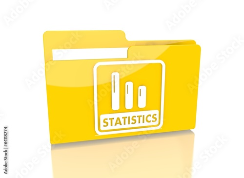 file folder with statistics sign