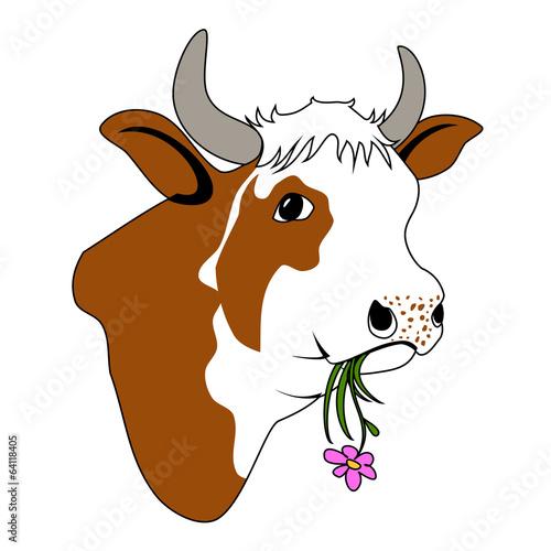 canvas print picture Glückliche Kuh