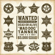 Постер, плакат: Vintage sheriff marshal and ranger badges set