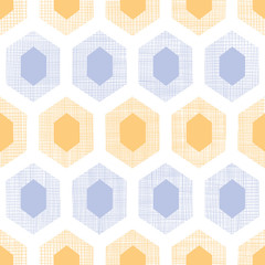 Abstract purple yellow honeycomb fabric textured seamless