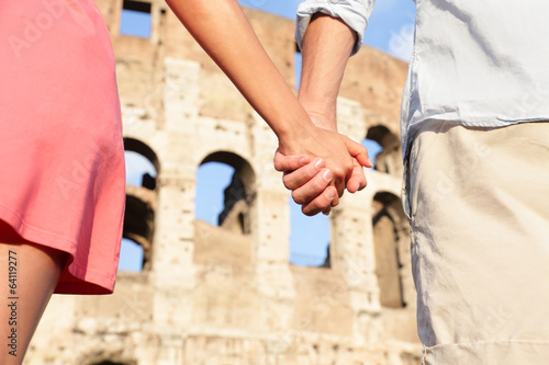Colosseum, Rome, Italy - romantic couple