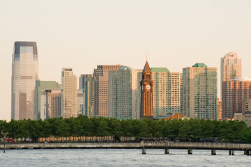 Hoboken terminal and Jersey city skyline, New Jersey