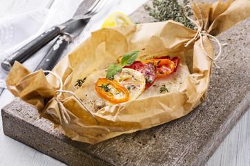 Gedünstete Fisch Filets