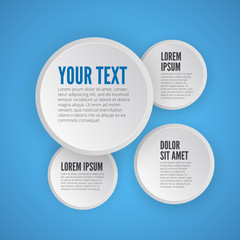 Infographic design on the blue background