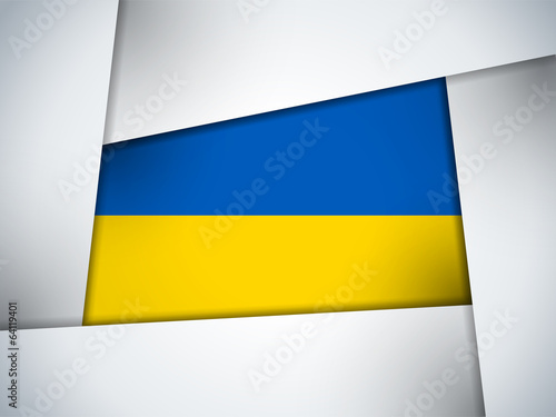 Ukraine Country Flag Geometric Background