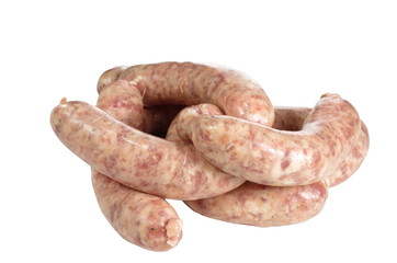 raw meat sausages