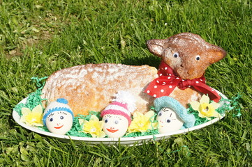 Traditional Easter hare - bisquit cake from Moravia