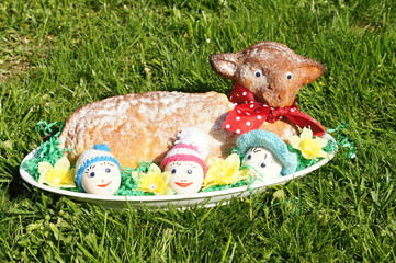 Traditional Easter hare - bisquit cake from Czech republic