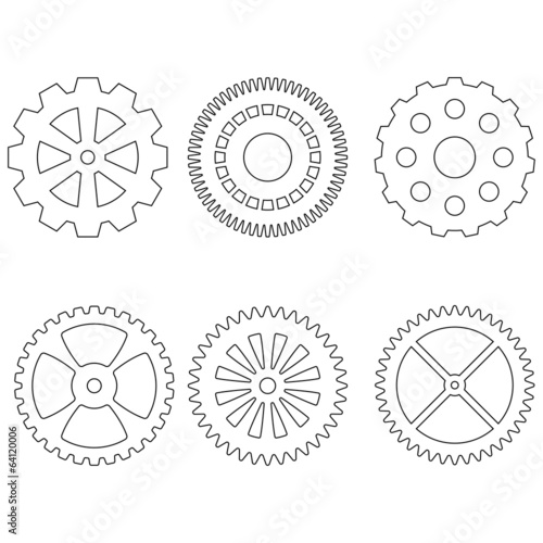 Set of gears icons