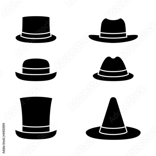 Hats icon set