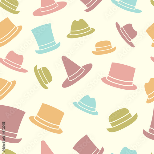 Seamless pattern of hats