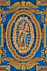 Ceiling at the St. Mary of the Altar of Heaven Basilica
