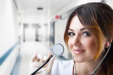 Nurse. Portrait on young woman nurse