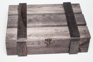Empty wood gift box