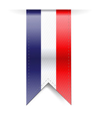 french banner illustration design