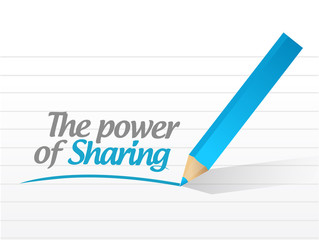 power of sharing message illustration design