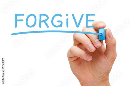 Forgive Blue Marker