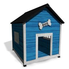 3d illustration of a dog house