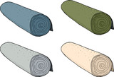 Isolated Rolls of Carpet