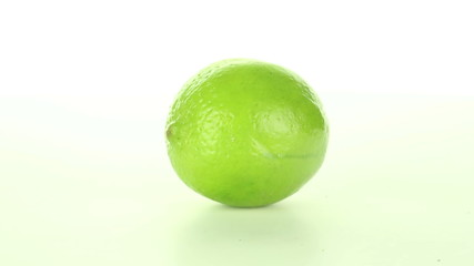 Lime rotates on a white background