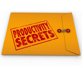 Productivity Secrets Yellow Envelope Tips Help Advice
