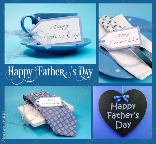 Happy Fathers Day collage of gifts