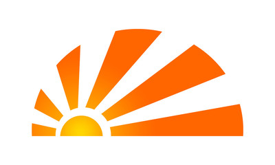 sun abstract logo