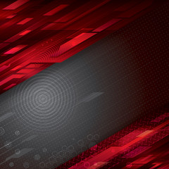 Digital abstract red technology background.