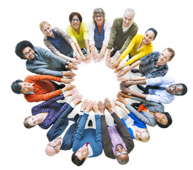 Multiethnic Diverse Group of People in Circle