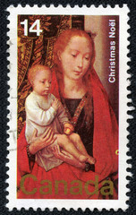 Painting Virgin and Child (by Hans Memling)