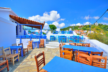 Beatiful little tavern on top of Skopelos town, Greece