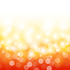 summer orange with bokeh and lens flare background (vector)