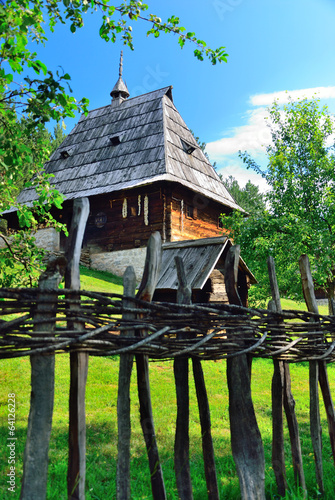 Detail at traditional medieval village, Sirogojno