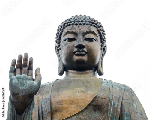 The worlds's tallest bronze Buddha in Lantau Island, Hong Kong