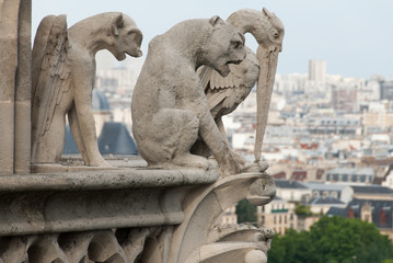 Demon, Dog and Heron Gargoyles of Notre Dame II