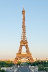 Eiffel Tower in Golden Light