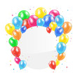 Balloons and circle card