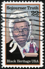 stamp shows Sojourner Truth, abolitionist