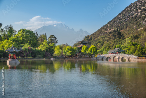 Lijiang old town scene-Black Dragon Pool Park