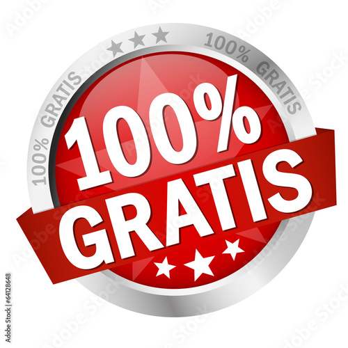 "Button mit Banner "" 100% GRATIS """