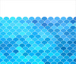 Vector blue background with stylized waves