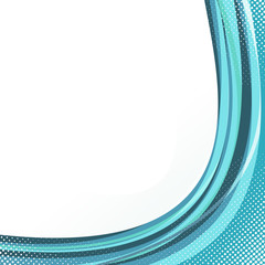 Modern lines swoosh wave green blue background