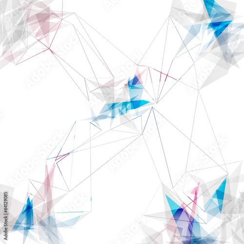 Abstract connections lines modern background