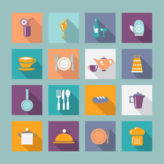 Icon Set vector of kitchen ware kitchen ware -illustration