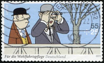 """fragment of the Sketch comedy Loriot """"Auf der Rennbahn"""""""