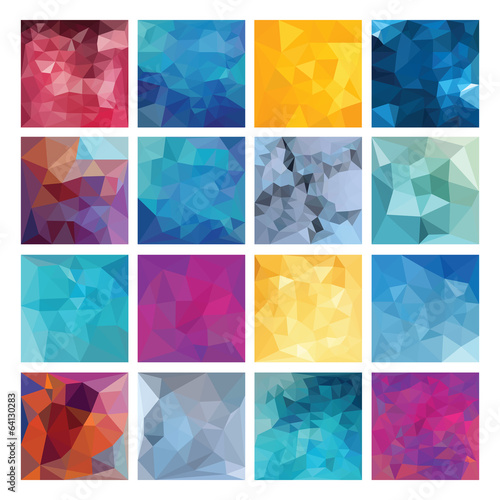 Polygonal  vector background set.