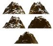 Leinwanddruck Bild - Mountain set , isolated
