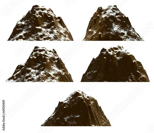 Leinwanddruck Bild Mountain set , isolated