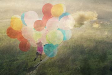 happy childhood, a child running