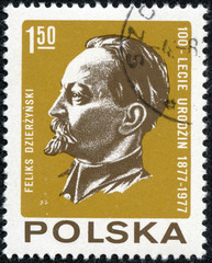 stamp printed in Poland shows Feliks Dzierzynski